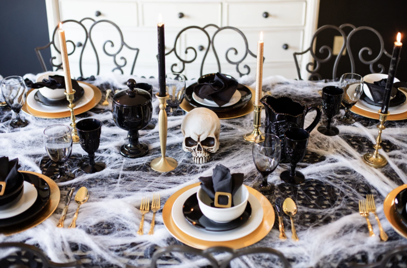 Details of a Spooky Halloween at Home.
